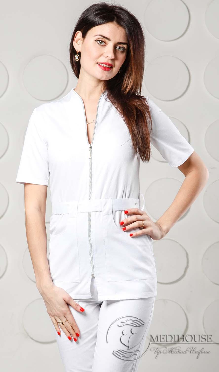 Женский медицинский блузон мод. 1.7 White
