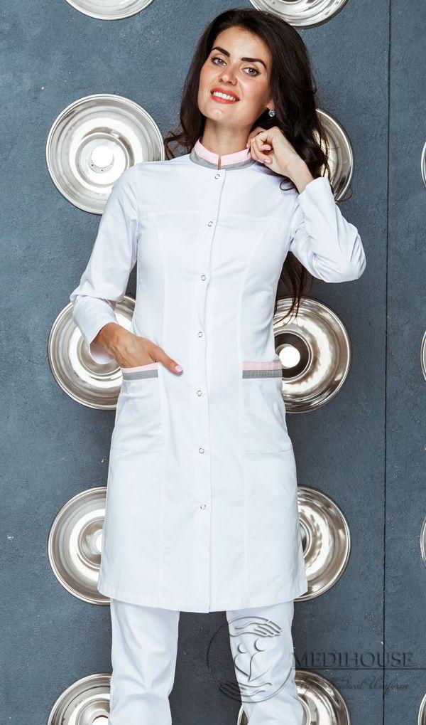 Женский медицинский халат мод. 21 White