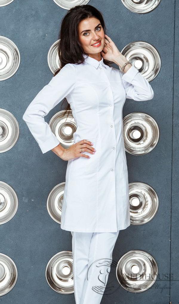 Женский медицинский халат мод. 21.1 White