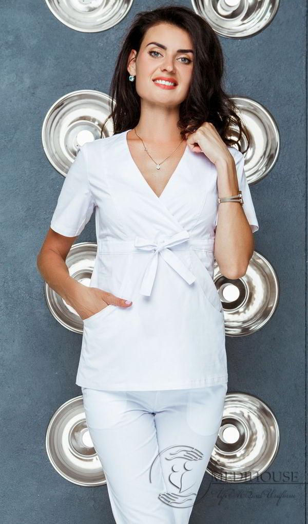 Женский медицинский блузон мод. 20.1 White