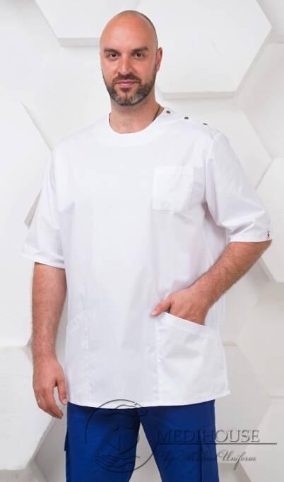Мужская медицинская куртка мод. 16 White