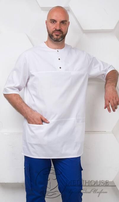 Мужская медицинская куртка мод. 16.2 White