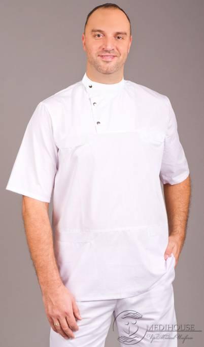 Мужская медицинская куртка мод. 10.1 White