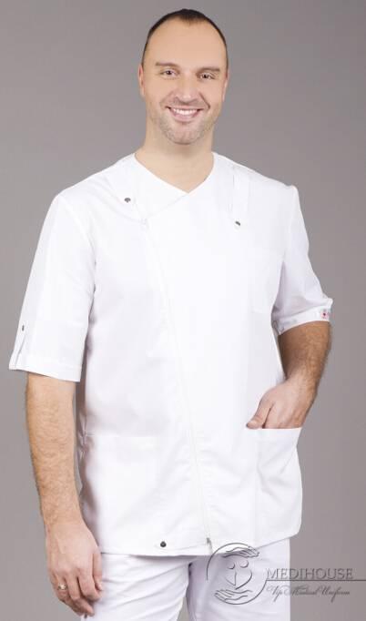Мужская медицинская куртка мод. 12 White