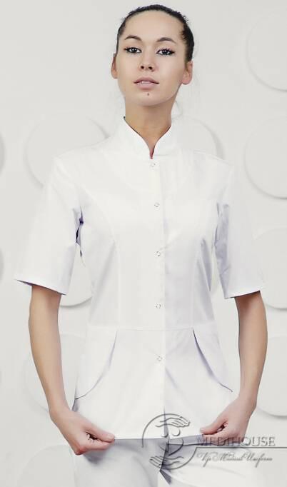 Женский медицинский блузон мод. 13.1 White
