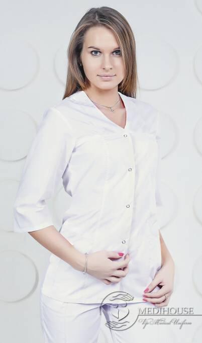 Женский медицинский блузон мод. 1.3.1 White