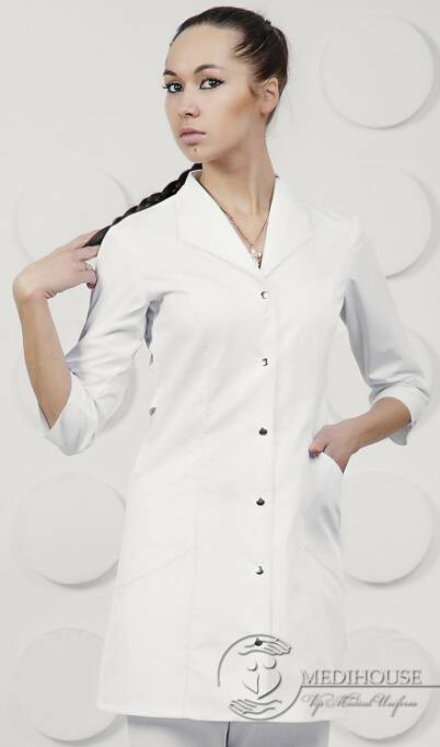 Женский медицинский халат мод. 1.0.9 White