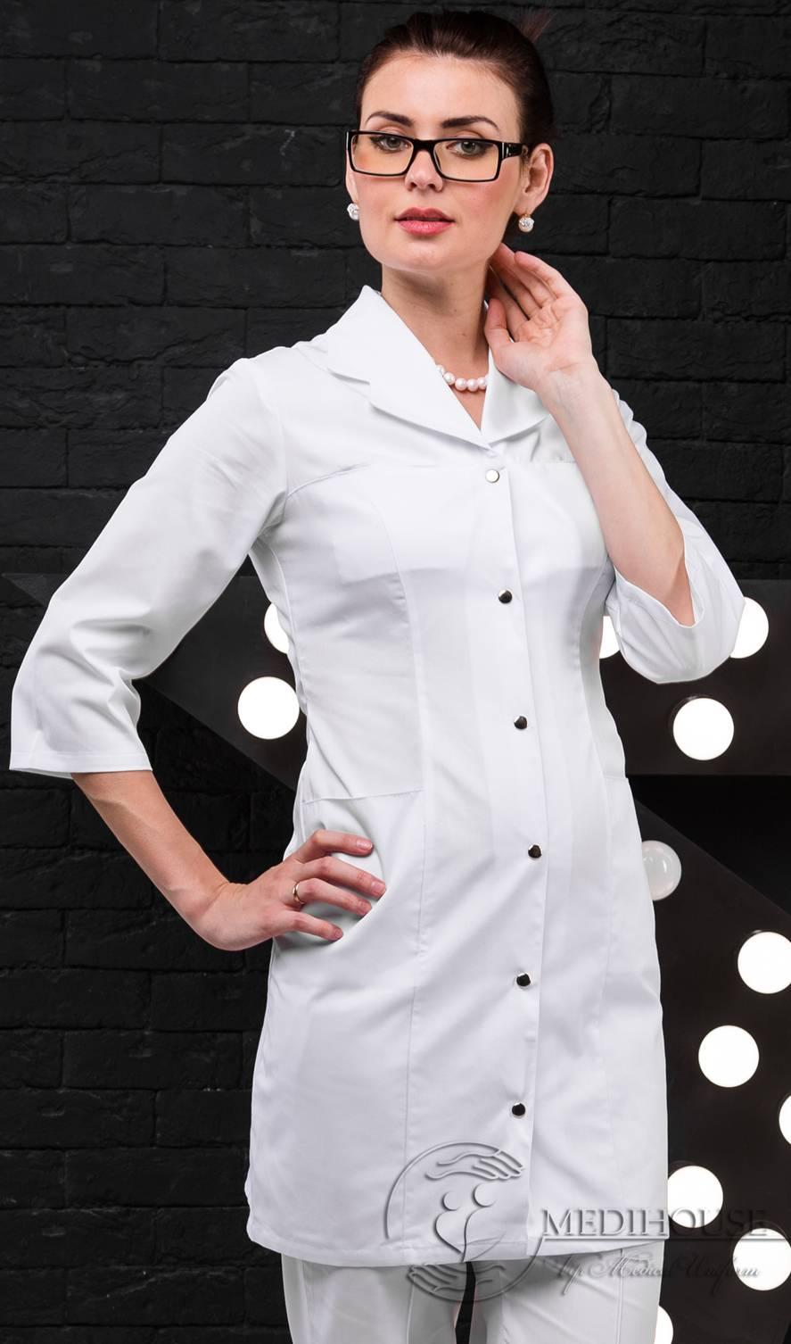 Женский медицинский халат мод. 1.0.8 White