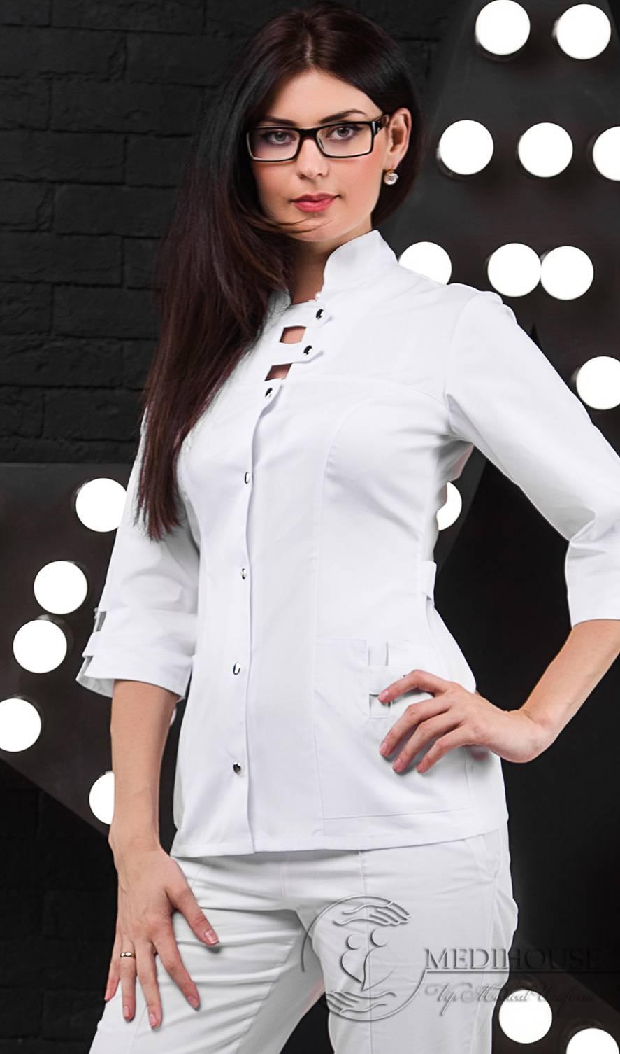 Женский медицинский блузон мод. 1.0.1 White