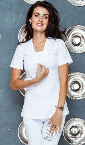 Женский медицинский блузон мод. 27 White