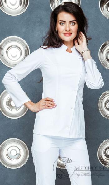 Женский медицинский блузон мод. 24 White