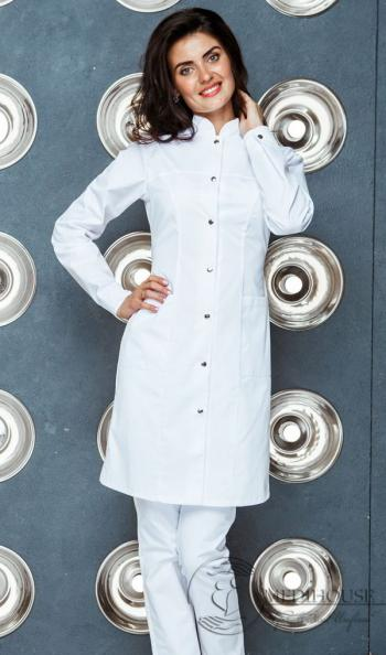 Женский медицинский халат мод. 1-м White