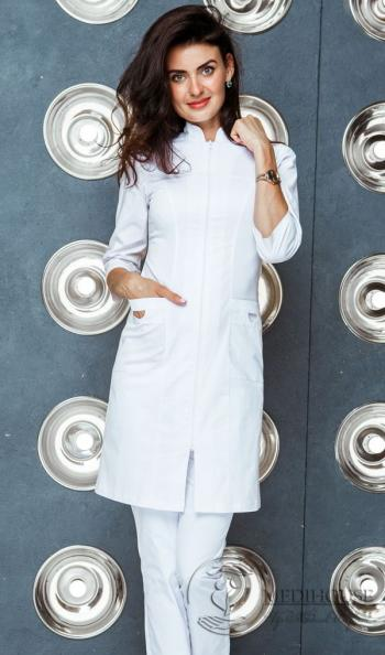 Женский медицинский халат мод. 21.3 White