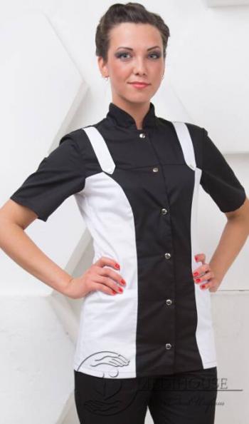 Женский медицинский блузон мод. 1.1.1 B&W