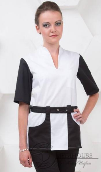 Женский медицинский блузон мод. 2.1/B&W