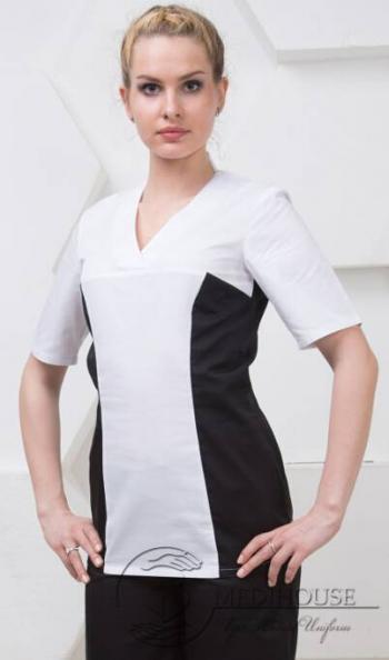 Женский медицинский блузон мод. 3.2/B&W
