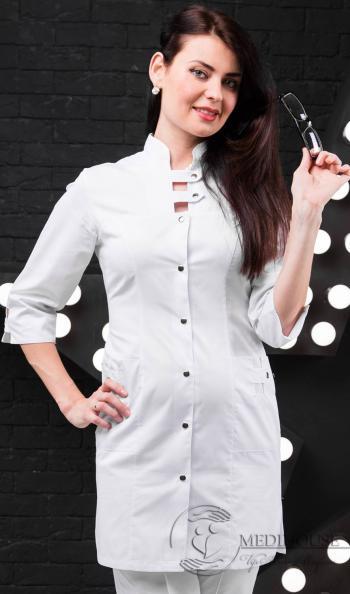 Женский медицинский халат мод. 1.0.0 White