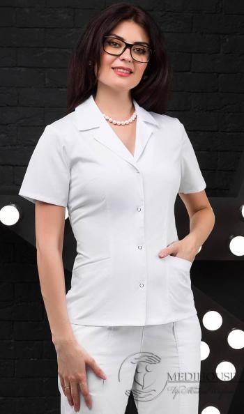 Женский медицинский блузон мод. 14.4 White
