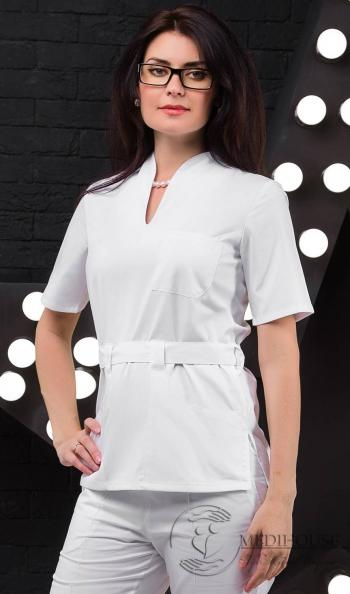 Женский медицинский блузон мод. 2.1 White