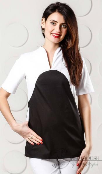 Женский медицинский блузон мод. 2.2 B&W
