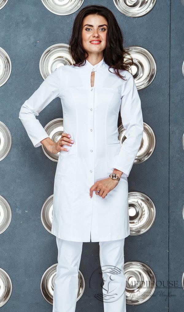 Женский медицинский халат мод. 21.2 White