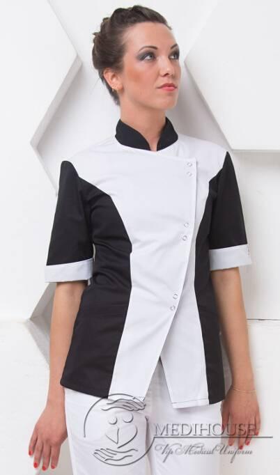 Женский медицинский блузон мод. 4 B&W