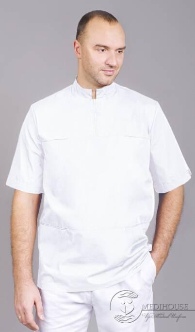 Мужская медицинская куртка мод. 10 White