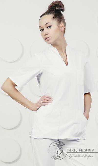 Женский медицинский блузон мод. 2 White