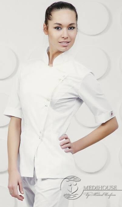 Женский медицинский блузон мод. 4 White