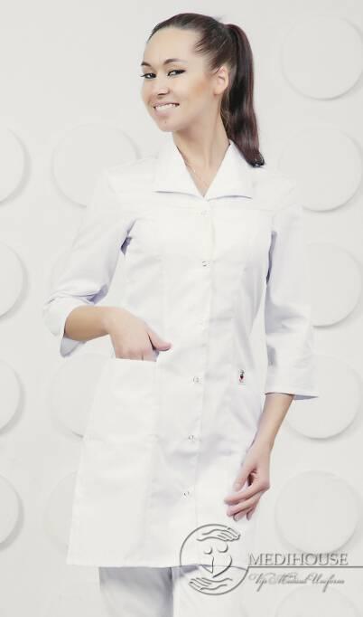 Женский медицинский халат мод. 1.0.6 White
