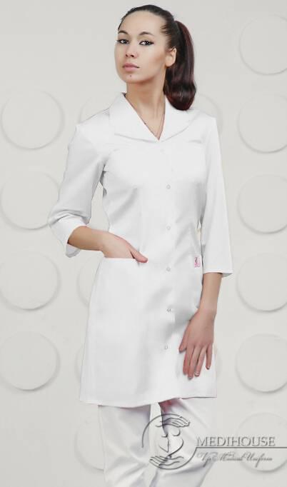Женский медицинский халат мод. 1.0.7 White