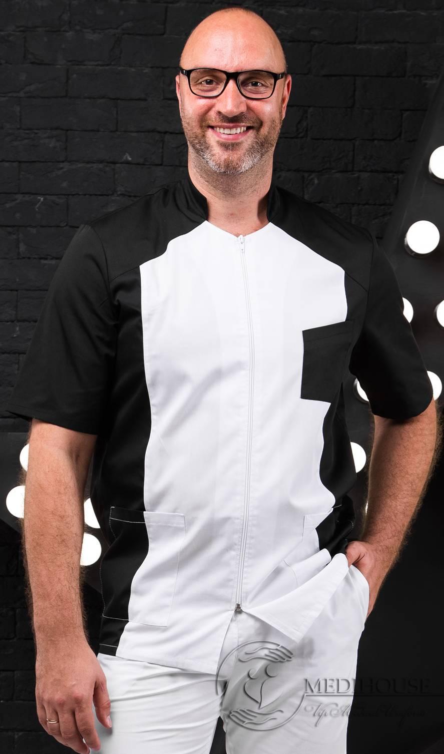 Мужская медицинская куртка мод. 11.2 B&W