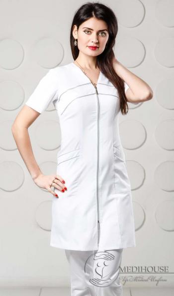 Женский медицинский халат мод. 1.4.2 White