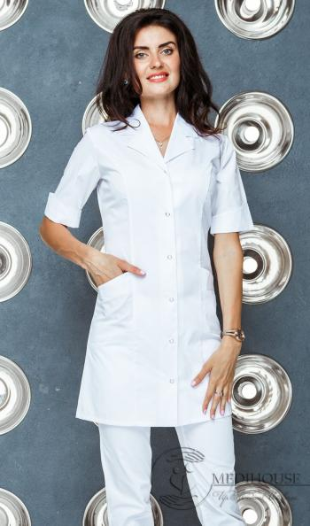 Женский медицинский халат мод. 1.0.7.1 White