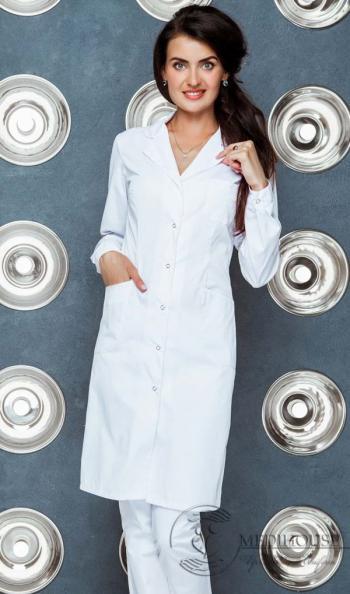 Женский медицинский халат мод. 1.0.5-м White