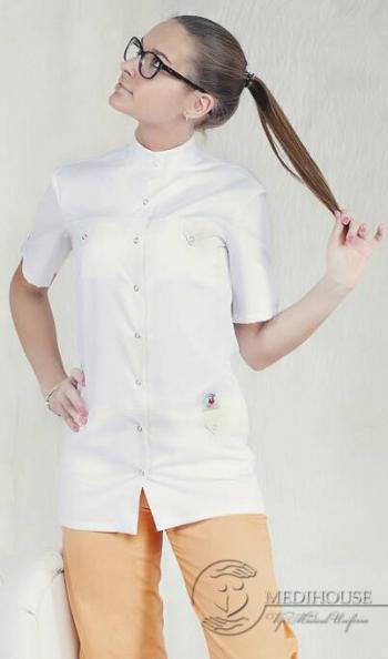 Женский медицинский блузон мод. 4.1 White