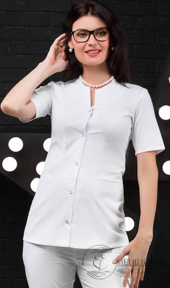 Женский медицинский блузон мод. 13 White