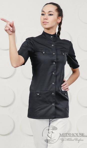Женский медицинский блузон мод. 4.1 B&W
